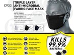 Be safe on farm with The Safety Warehouse's anti-microbial face mask