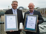 Colin Jennings and Mark Paterson accept Transdev Queensland and Transdev Australasia awards from the National Safety Council of Australia