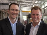 Bustech Chief Executive Officer Michael McGee and Queensland Minister for Transport and Main Roads Scott Emerson
