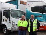 Allens Freight operations manager Richard Allen (left) and Ryans managing director Graham Ryan.