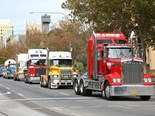 Trucks will complete a 7km circuit in a convoy.