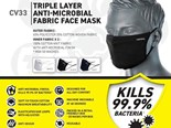 Anti microbial fabric face mask