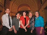 Deputy Mayor of Charters Towers Regional Council, Wally Brewer; Member for Indi (Victoria), Cathy McGowan AO; Speaker of the Queensland Parliament, Fiona Simpson; Member for Burdekin, Rosemary Menkens; and outgoing QRRRWN president, Georgie Somerset
