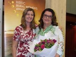 Queensland state rural women's award winner Sherrill Stivano (right) will now join six other finalists vying for the national 2015 RIRDC Rural Women's Award. Image: RIRDC