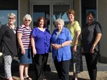 CWAA national president Noela MacLeod (third from right) with state and territory presidents. Image: CWAA