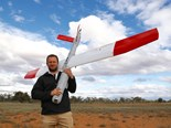 Ninox Robotics managing director Marcus Elrich with one of the drones following a trial in southern Queensland this month