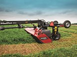MacDon's new R1 series rotary mowers offers several advanced features including a optimised transport width and a responsive float linkage design