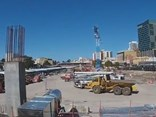 A snapshot of the progress on the Perth Busport