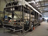 A Custom Bus body in the early stages of production