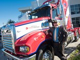 Mack boss Dean Bestwick with one of the Lindsay Super-Liners at the Pinkenba dealership in Brisbane.