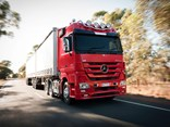 Benz offers free scheduled servicing for Actros vehicles.