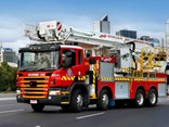 The 2013 Euro 5 Bronto P400 in action for MFB.