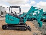 The 4.5-tonne Kobelco SK45SRX-6 mini excavator.