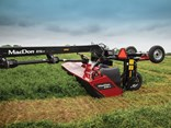 MacDon's new R1 series rotary mowers offers several advanced features including a optimised transport width and a responsive float linkage design.