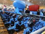 The pre-production Lemken Azurit seeder on display at Agritechnica 2015.