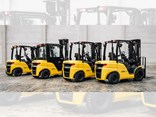 The new Hyundai 9-series diesel counterbalance forklift models.