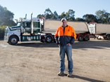 Shaun Walsh with his Mack Trident and Lusty EMS stag tipper set.