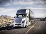 Daimler's autonomous Freightliner Cascadia gets its plates.