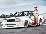 George Fury with the 1983 Nissan Bluebird Turbo