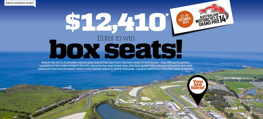 Win our $12,410 MotoGP prize...