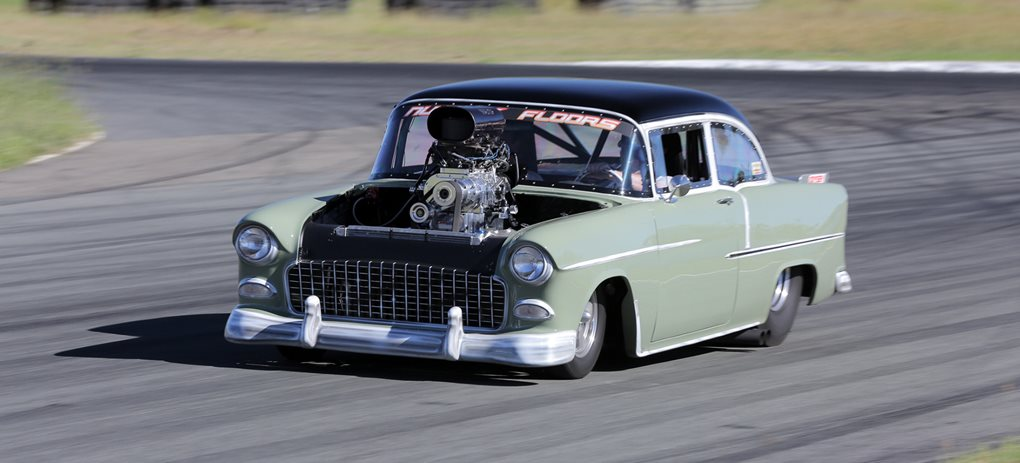 BLOWN 1955 CHEV WITH NITROUS FOR MORE POWER