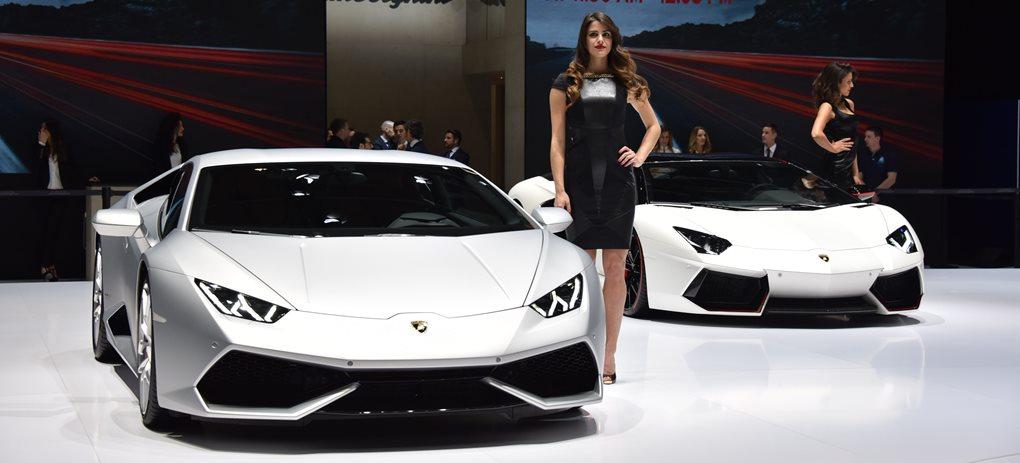 Lamborghini at the 2015 Geneva Motor Show