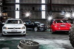 Peugeot 308 Access versus Renault Megane TCe120 versus Volkswagen Golf 90