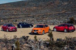 Mazda 3 v Alfa Romeo Giulietta v Hyundai i30 v Holden Cruze comparison review