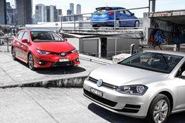 Ford Focus vs Volkswagen Golf vs Toyota Corolla