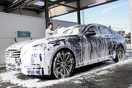 Hyundai Genesis at Car Wash