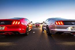 Ford Mustangs v Holden Commodore SS-V Redline comparison review