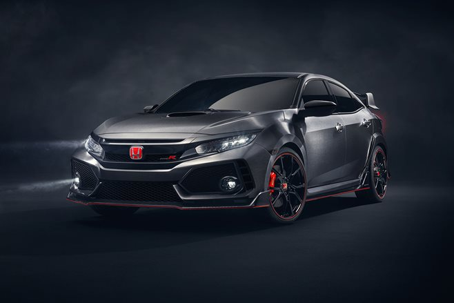 This is the new Honda Civic Type R…Prototype