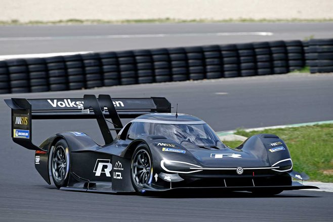 Shape of things to come as VW unveils first all-electric racing vehicle