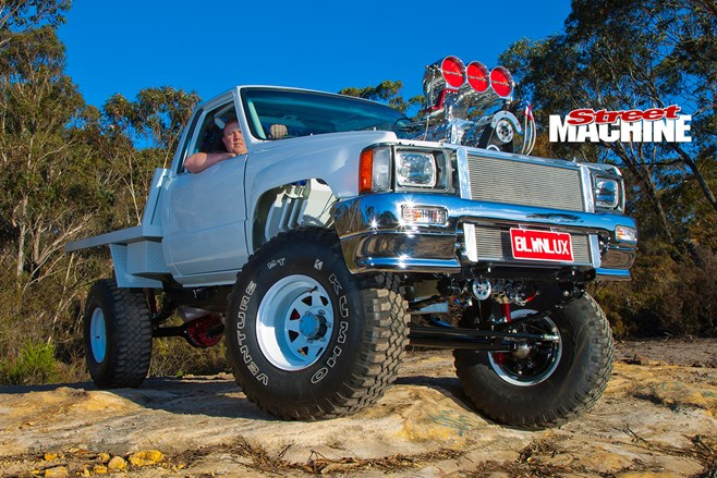 Toyota Hilux Packing A Blown Amp Injected 540 Cube Big Block