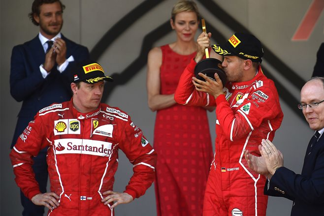 Vettel leads Ferrari 1-2 at Monaco to extend lead over Hamilton