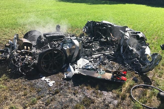 Driver crashes $262000 Ferrari Scuderia within 'one hour' after picking it up