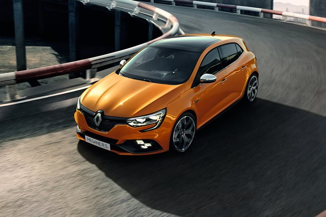 Frankfurt - Renault Megane RS steers four wheels