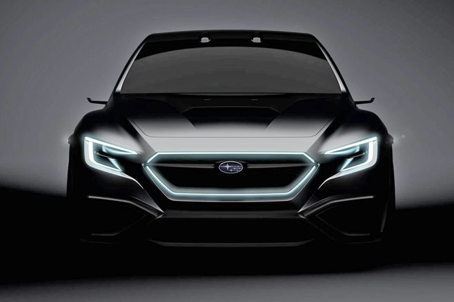 Subaru VIZIV Performance Concept sports sedan teased ahead of Tokyo debut