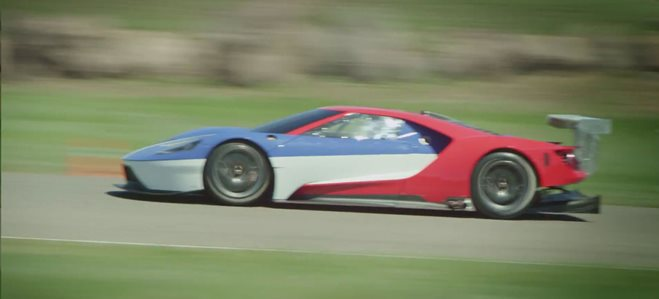 Ford's GT race car caught at full noise