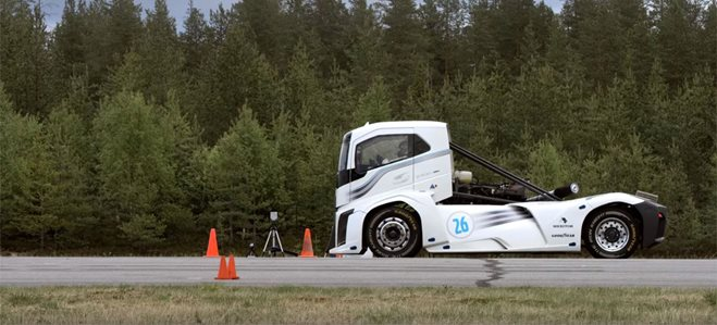 Volvo truck speed record