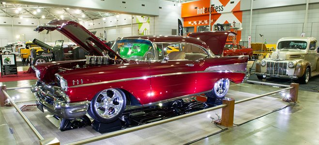 57 Chev coupe custom
