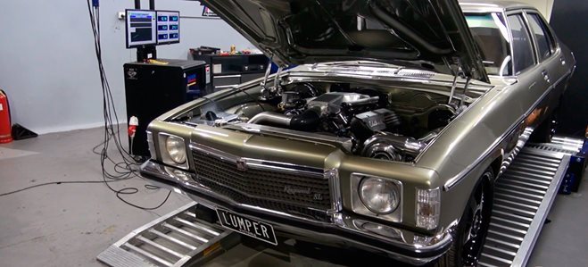SINGLE TURBO 6-LITRE KINGSWOOD ON THE DYNO
