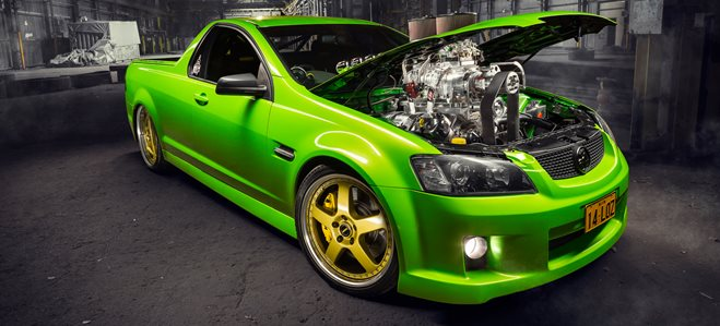 Holden VE Ute blown