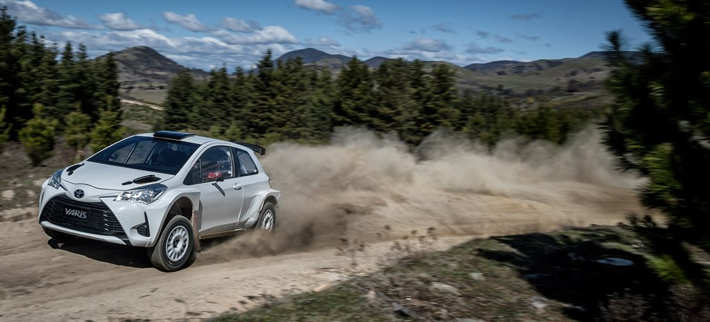 Toyota Yaris AP4 rally car drive