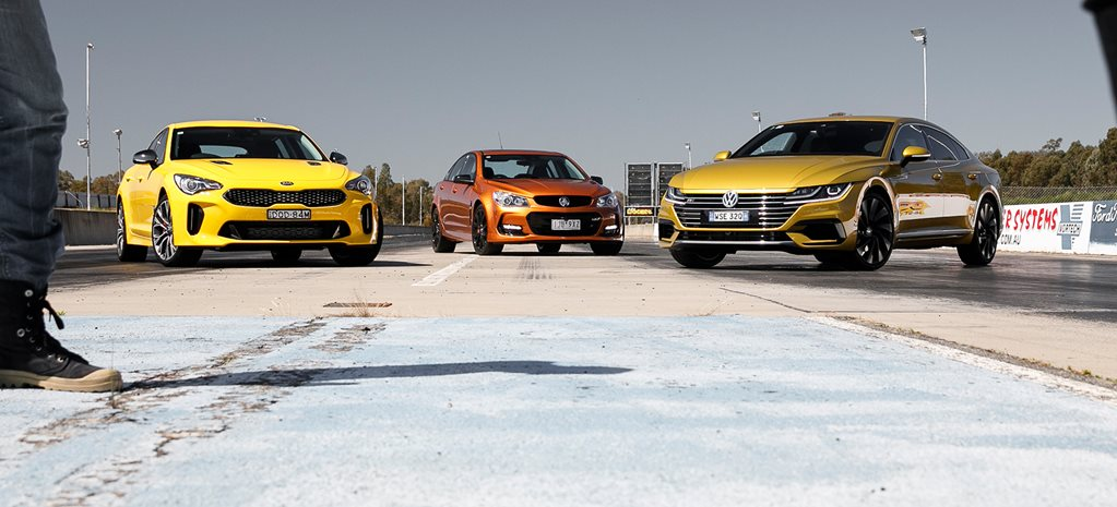Video Volkswagen Arteon vs Kia Stinger vs Commodore SS-V