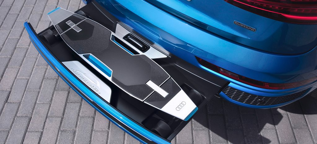 Audi Q3 Concept Carries Electric Scooter To Carve Up Traffic
