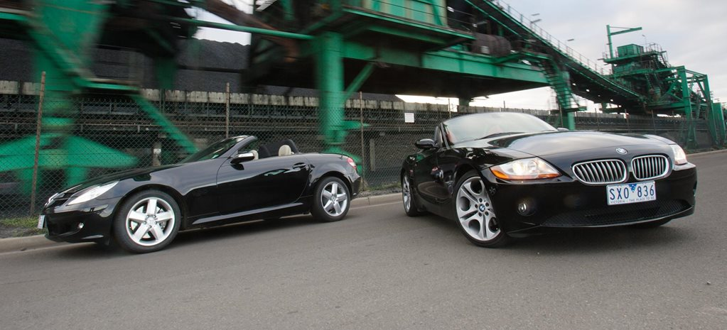 2004 BMW Z4 Roadster vs Mercedes-Benz SLK350 comparison review classic MOTOR