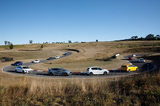 Video: Hot-hatch mega-test heads to Haunted Hills