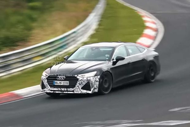 2020 Audi RS7 testing at the Nürburgring
