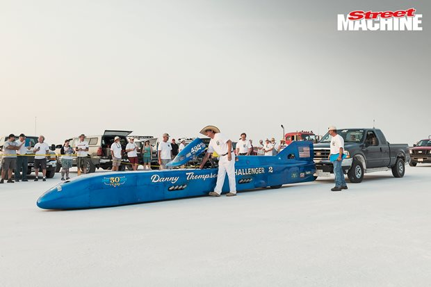 Danny Thompson's Challenger II runs 450mph at Bonneville